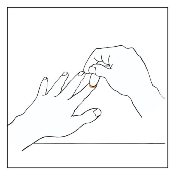 指サックの指錯覚(主観)