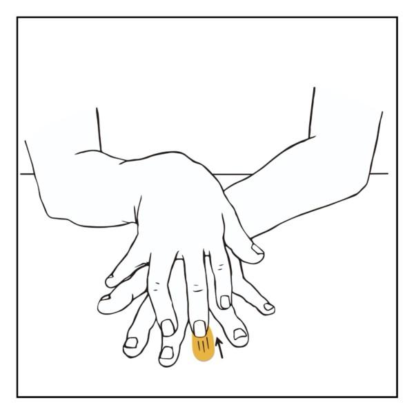指のフロッタージュ(客観)