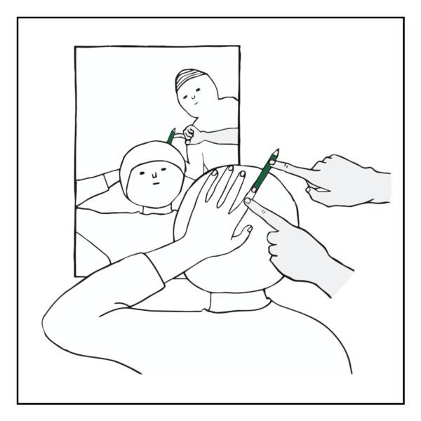 後頭部の指先錯覚(客観ドローイング)