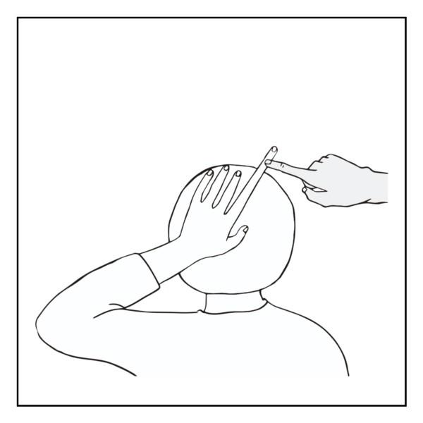 後頭部の指先錯覚(主観ドローイング)