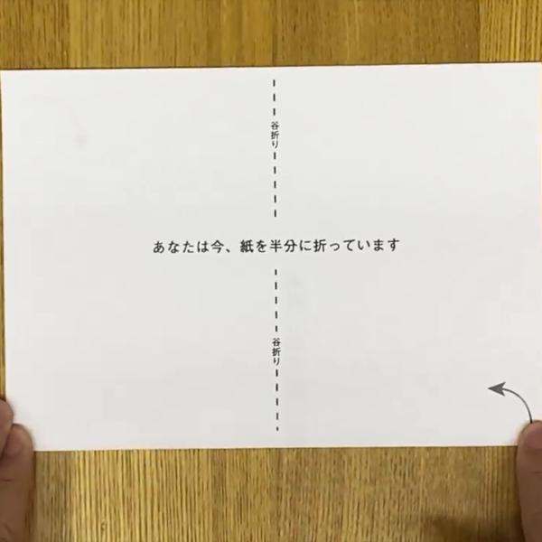 あなたは今、紙を半分に折っています (2020)