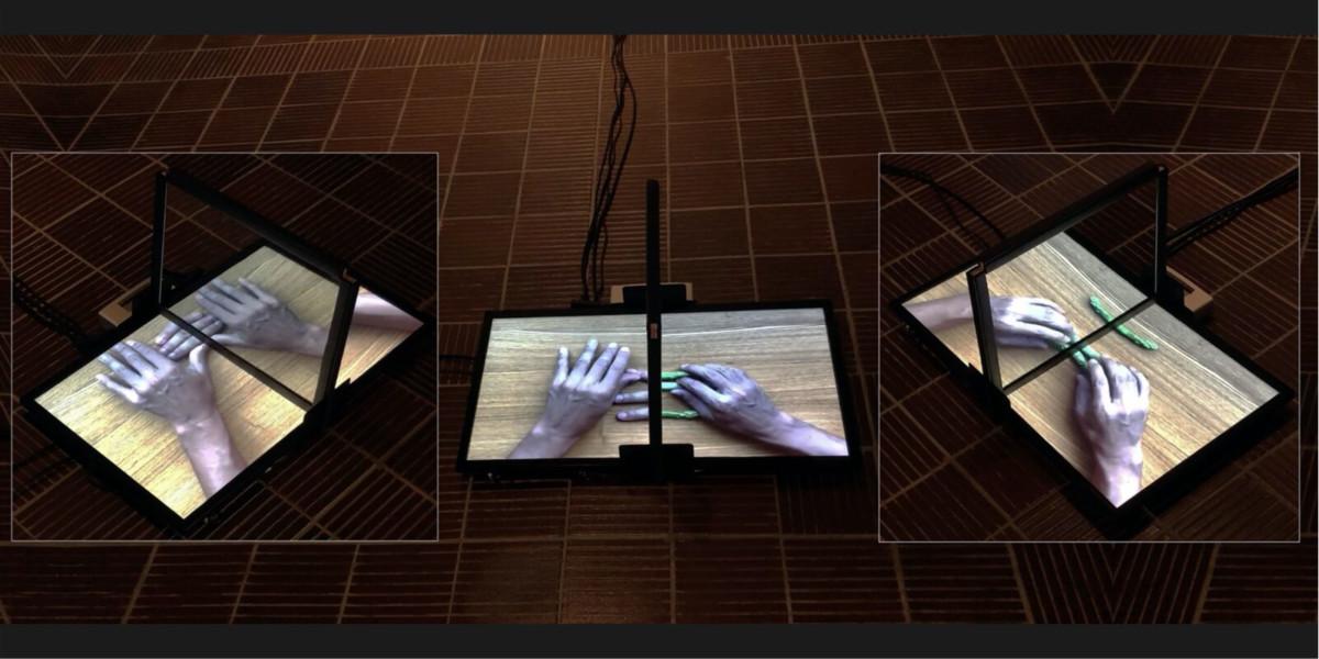 『拡張する知覚-人間表現とメディアアート展』展示風景